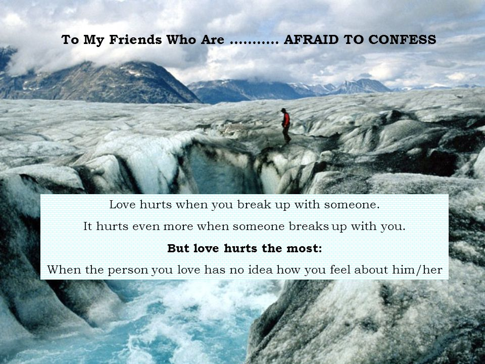 To My Friends Who Are...........