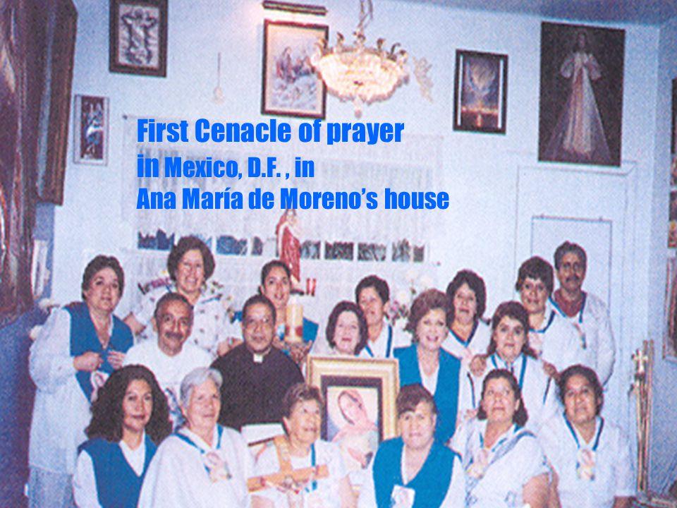 17 First Cenacle of prayer in Mexico, D.F., in Ana María de Morenos house
