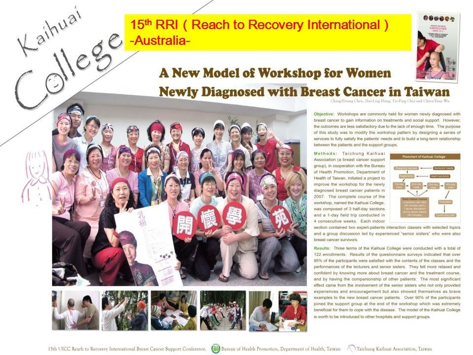 11 15 th RRI Reach to Recovery International -Australia-