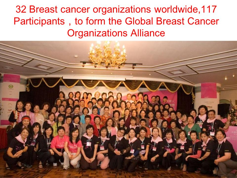 32 Breast cancer organizations worldwide,117 Participants to form the Global Breast Cancer Organizations Alliance
