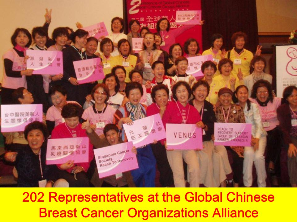 202 Representatives at the Global Chinese Breast Cancer Organizations Alliance