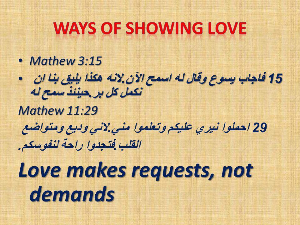 Mathew 3:15 Mathew 3:15 15 فاجاب يسوع وقال له اسمح الآن.