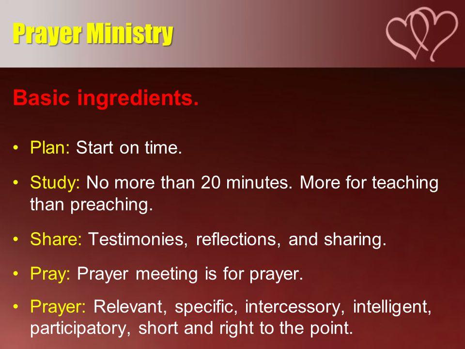 Basic ingredients. Plan: Start on time. Study: No more than 20 minutes.