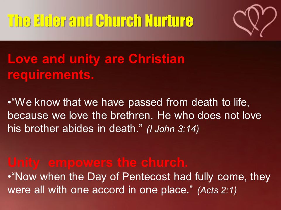 Christian love produces unity despite differences.