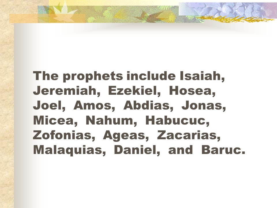 Jesus says that all the law and the prophets depend on the first and second commandments.