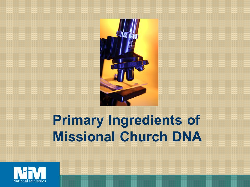 Primary Ingredients of Missional Church DNA