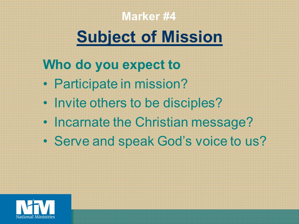 Subject of Mission Who do you expect to Participate in mission.