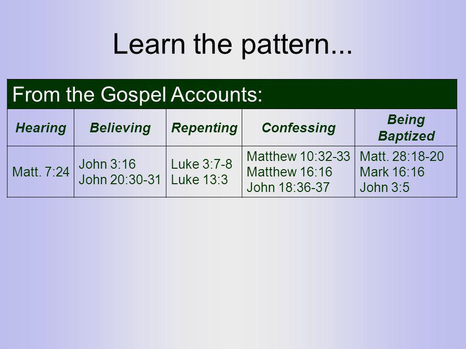 Learn the pattern...
