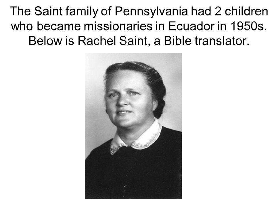 Marj Saint in 1997 embracing Mencaye, former murderer or her husband Nate Saint, now forgiven friend in Christ!