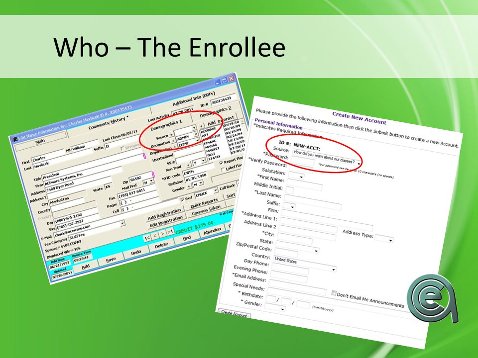 Who – The Enrollee v v