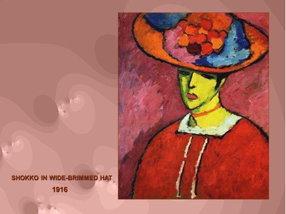 1916 SHOKKO IN WIDE-BRIMMED HAT