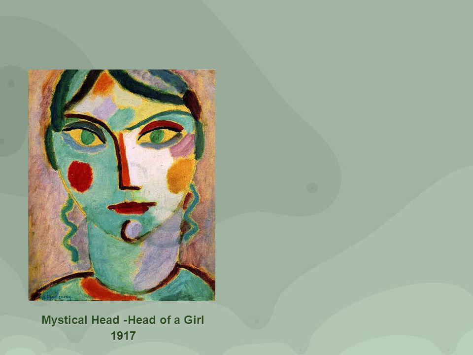 Mystical Head -Head of a Girl 1917