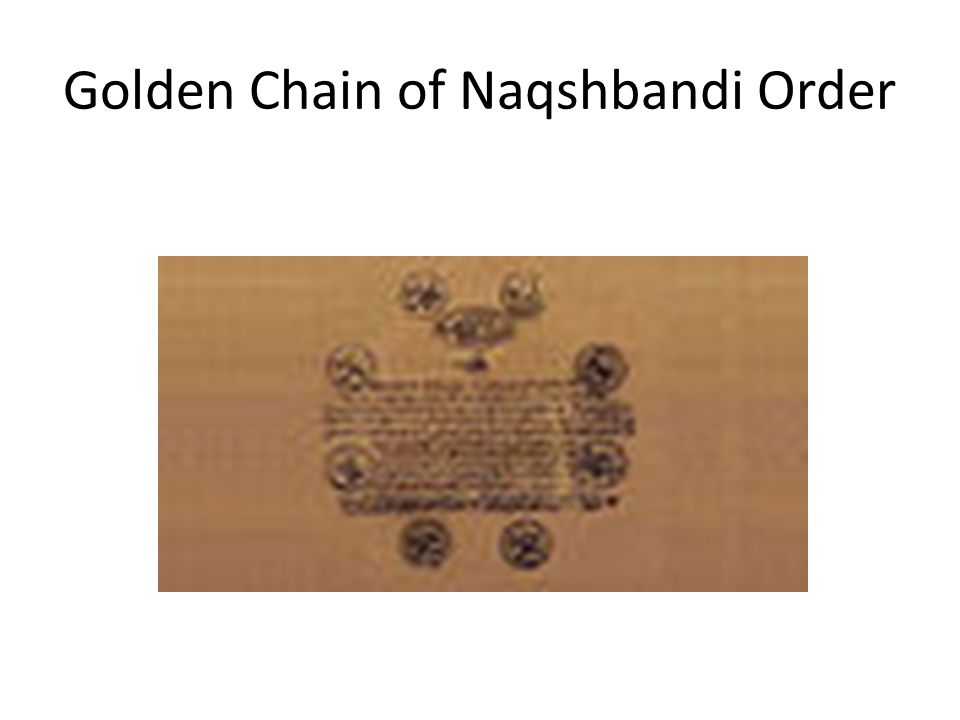 Golden Chain of Naqshbandi Order