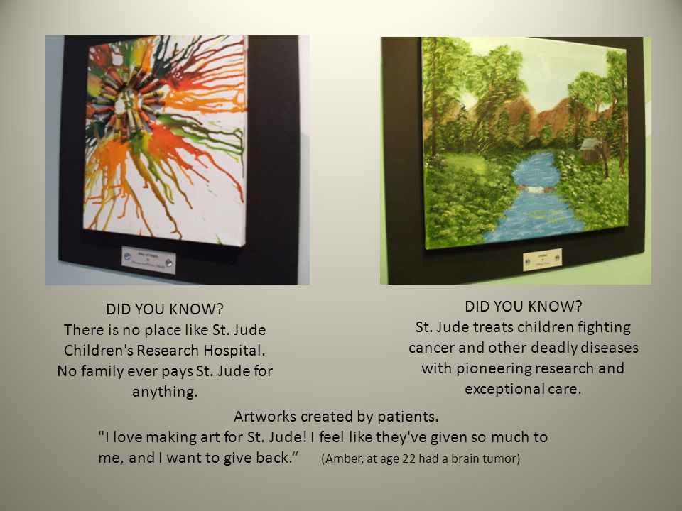 DID YOU KNOW. There is no place like St. Jude Children s Research Hospital.