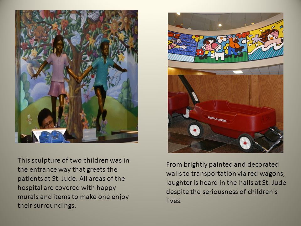 From brightly painted and decorated walls to transportation via red wagons, laughter is heard in the halls at St.