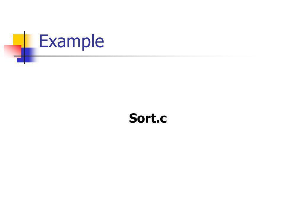 Example Sort.c