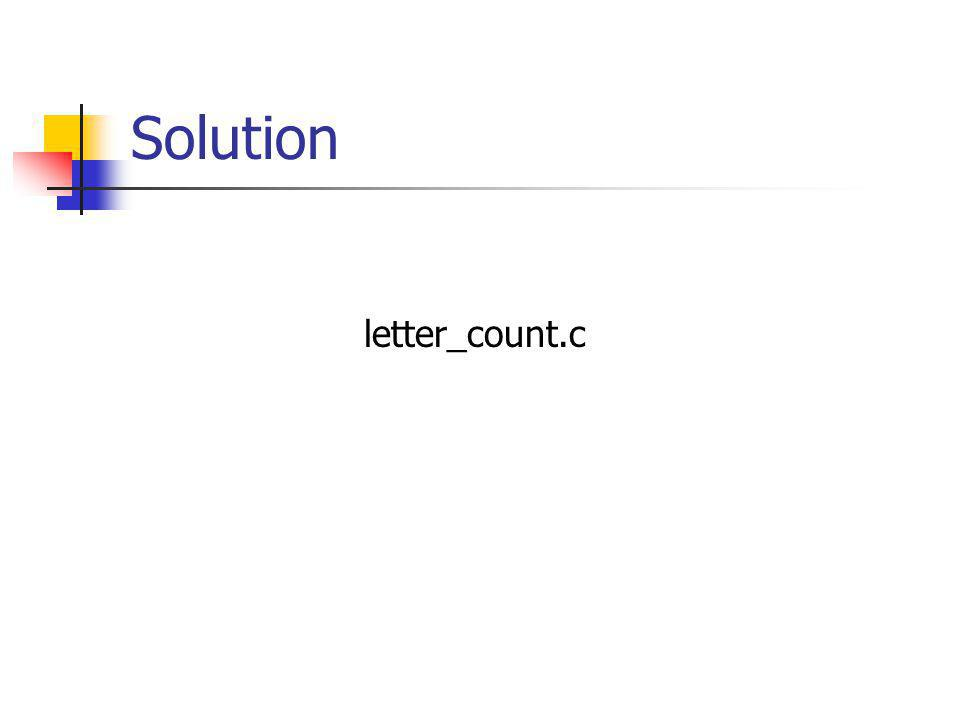 Solution letter_count.c