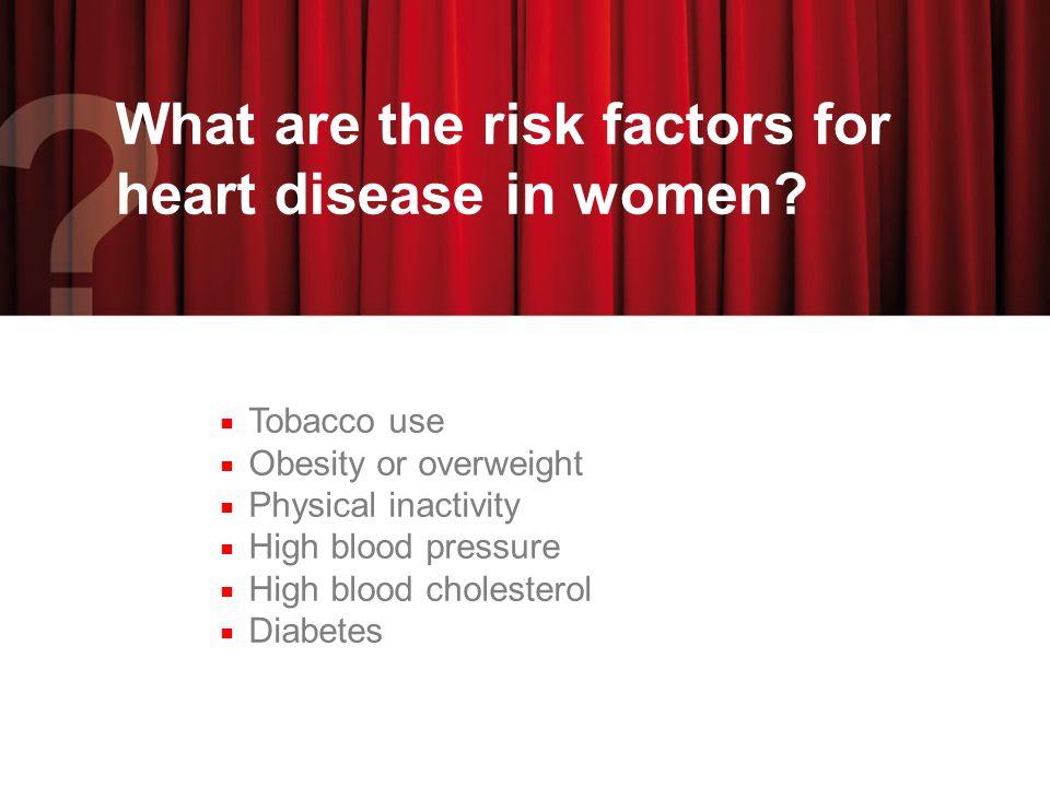 What are the risk factors for heart disease in women.