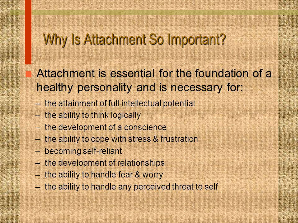 Why Is Attachment So Important.