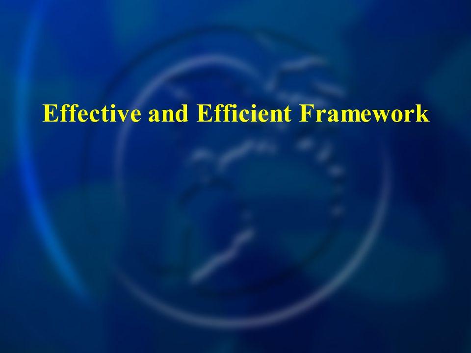 Effective and Efficient Framework