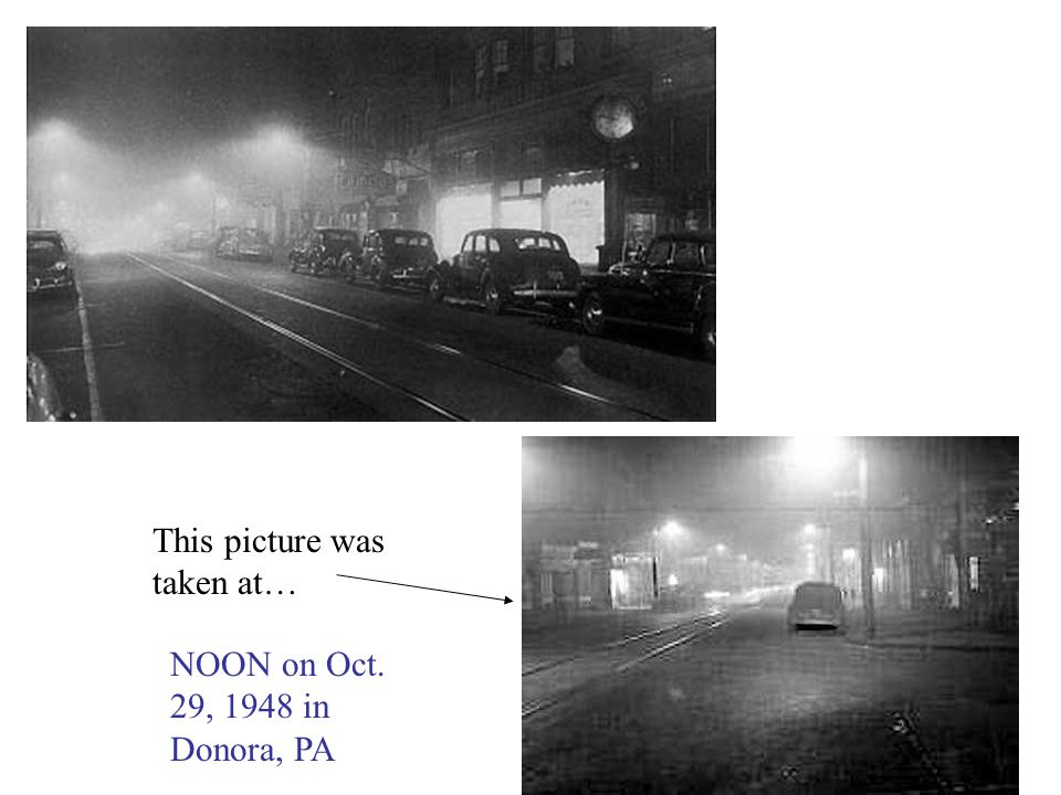 This picture was taken at… NOON on Oct. 29, 1948 in Donora, PA