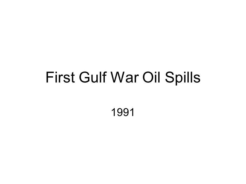 First Gulf War Oil Spills 1991
