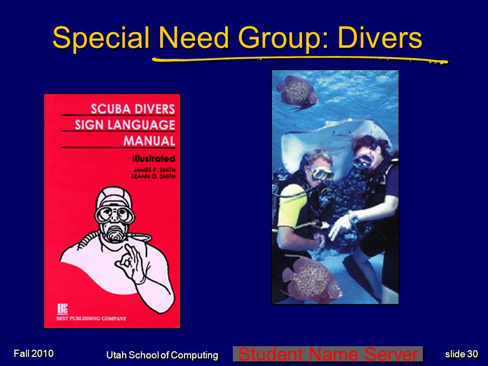 Student Name Server Utah School of Computing slide 29 Pictogram standard MAYOR OF LOND ON Pictograms - 5 Fall 2010
