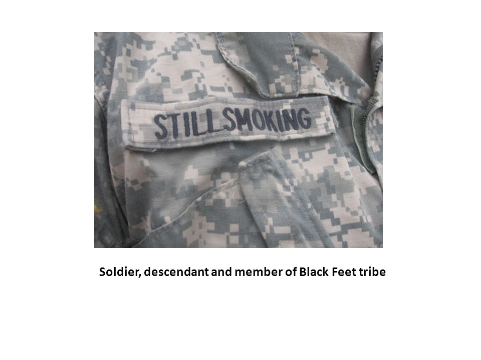 Soldier, descendant and member of Black Feet tribe
