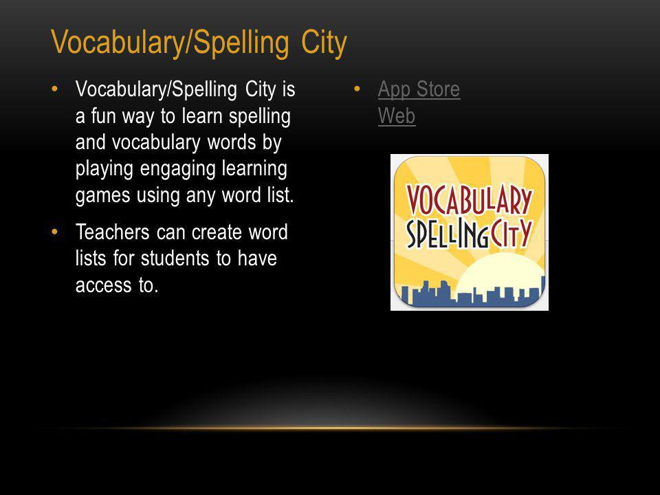App Store Spelling Free allows the user to create a test, take a test, see scores and even email the results to teachers or parents.