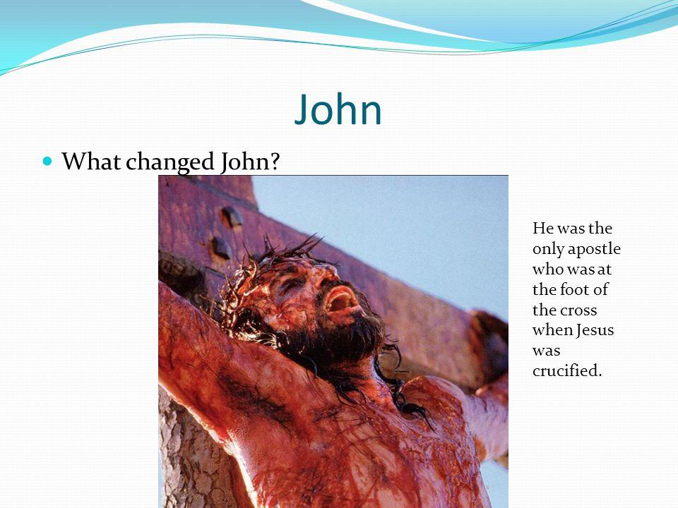 John What changed John.
