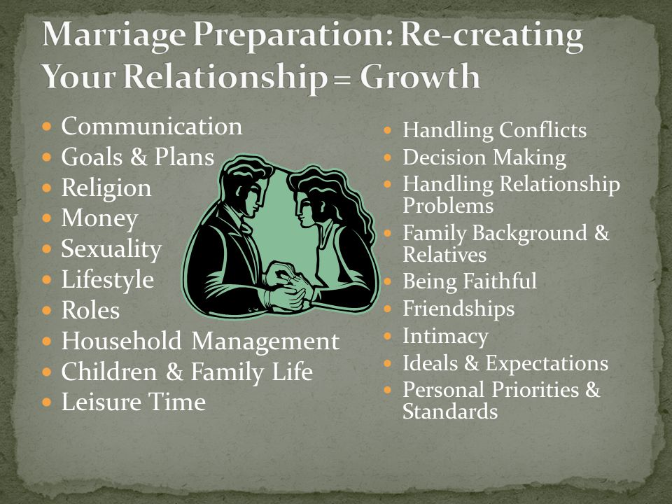 High divorce rate More time and $ spent on preparing for the wedding then the marriage Wedding is for a day Marriage is for a lifetime Catholic Church