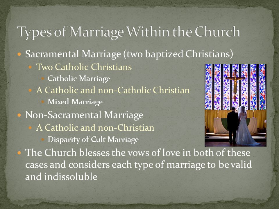 A solemn promise, a sacred covenant, like the one God has made with us. The love of God for the Church. A bond of unity between one man and one woman,