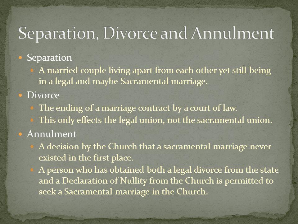 Sacramental Marriage (two baptized Christians) Two Catholic Christians Catholic Marriage A Catholic and non-Catholic Christian Mixed Marriage Non-Sacr