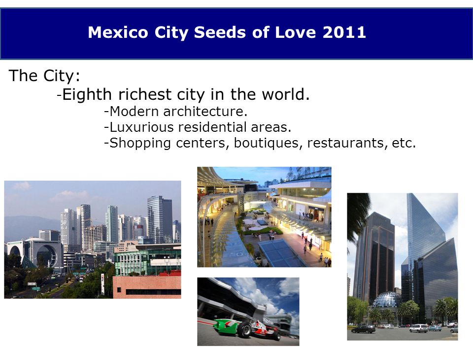 The City: - Large extensions of underdeveloped areas with comparable conditions of those in the worlds poorest countries.