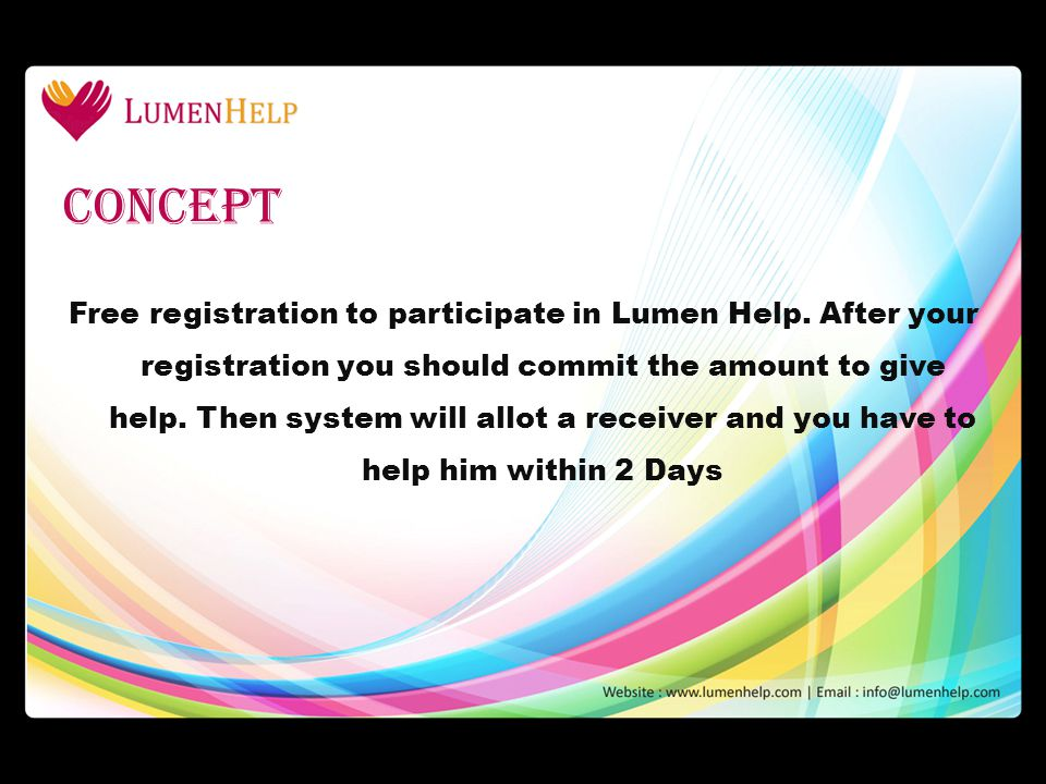 Free registration to participate in Lumen Help.