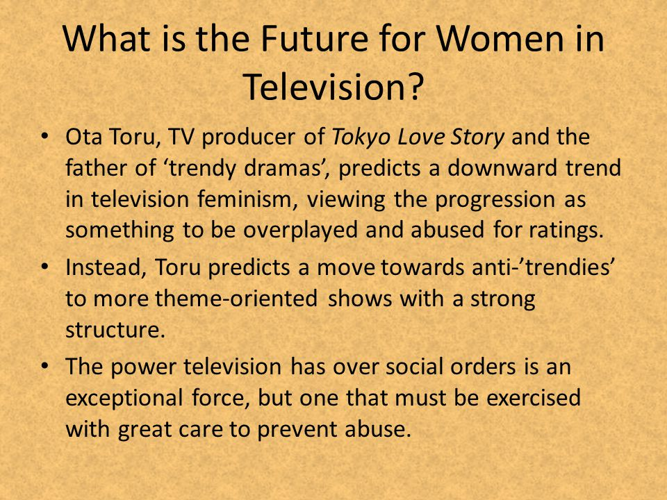 What is the Future for Women in Television.