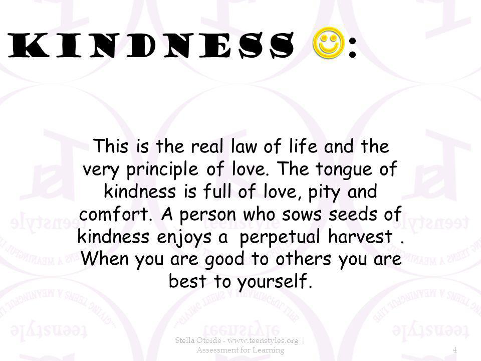 This is the real law of life and the very principle of love.