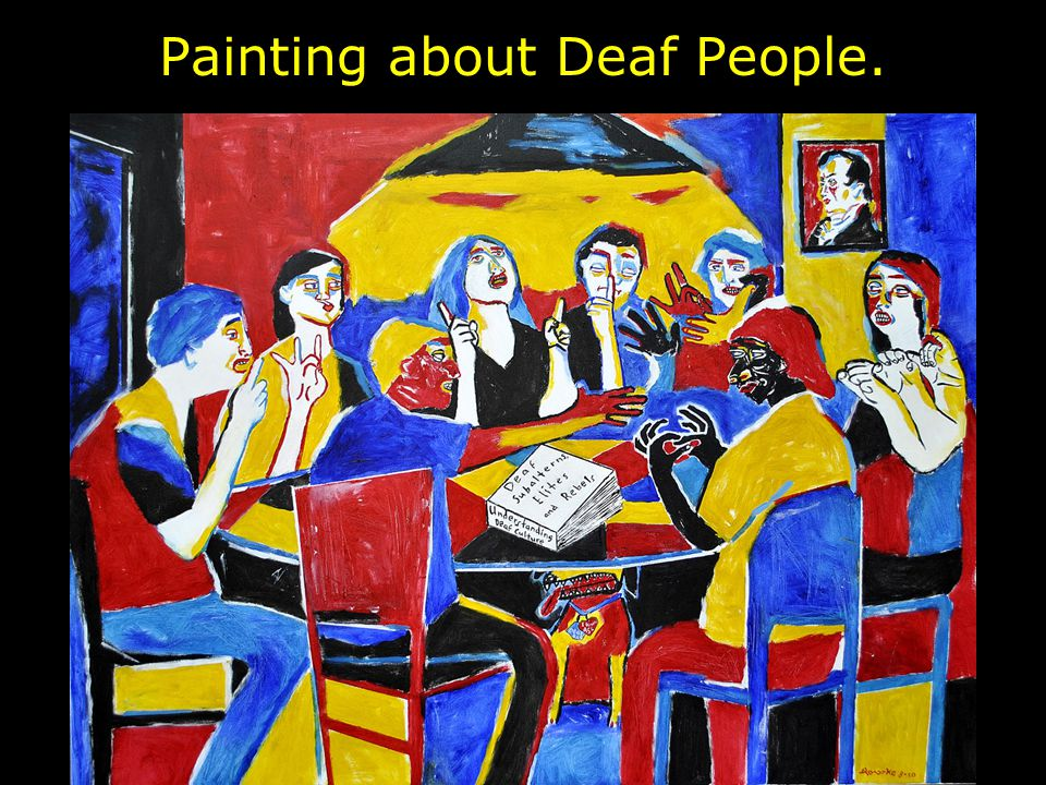 Painting about Deaf People.