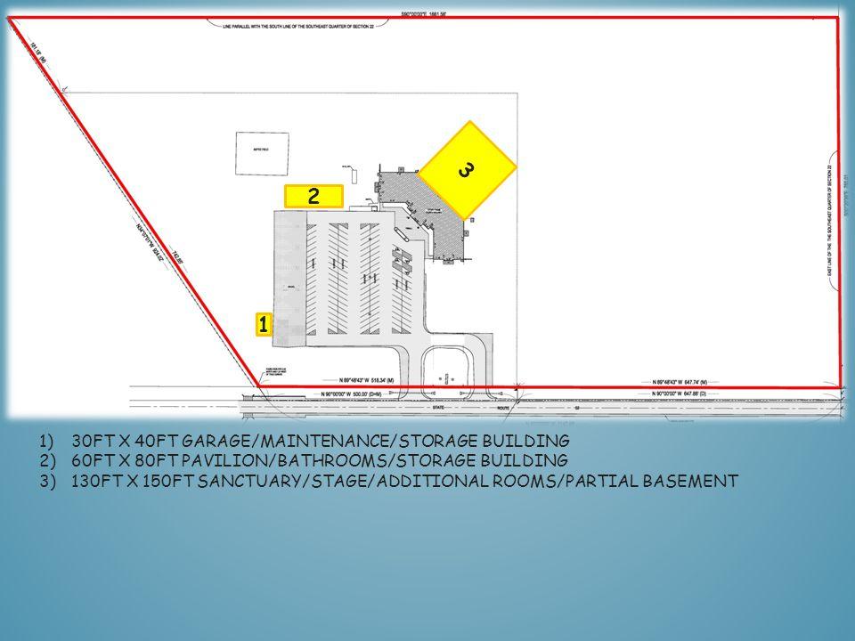 1 2)60FT X 80FT PAVILION/BATHROOMS/STORAGE BUILDING 2