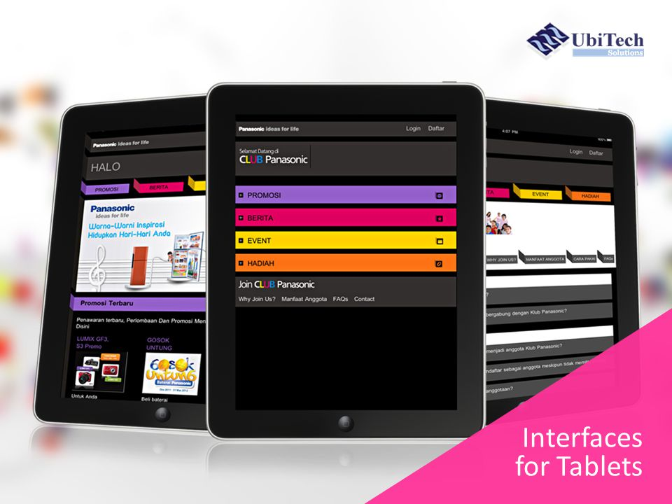 Interfaces for Tablets