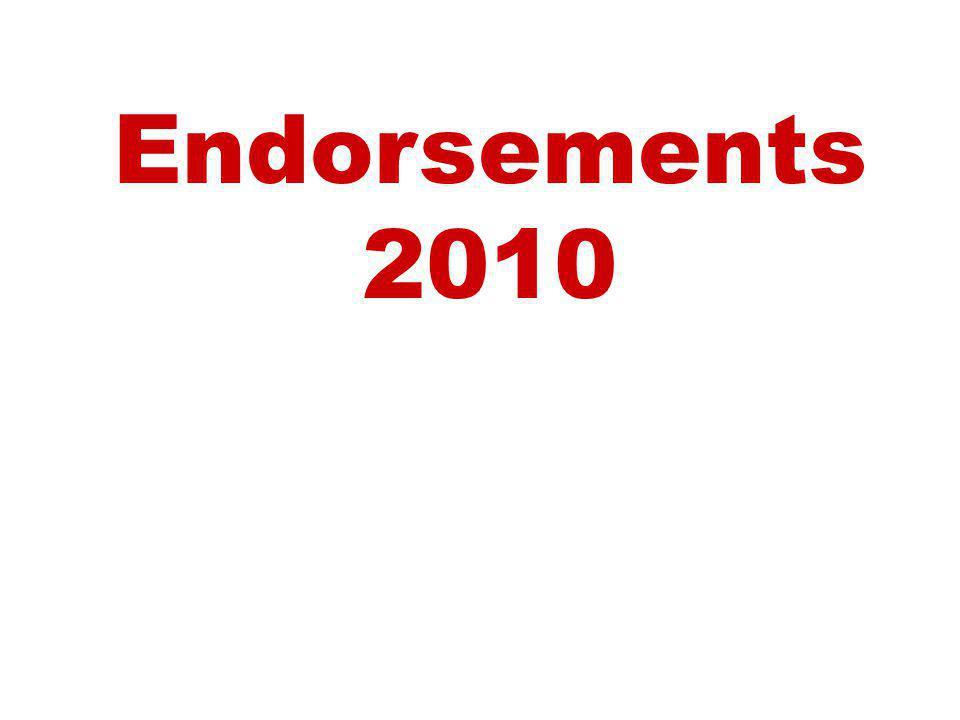 Endorsements 2010