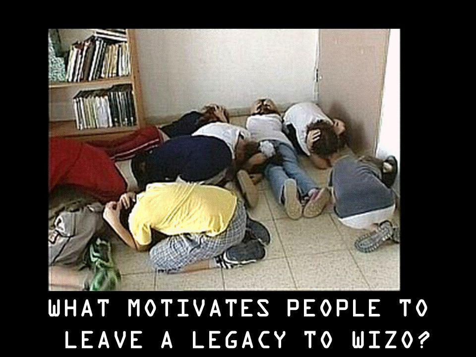 WHAT MOTIVATES PEOPLE TO LEAVE A LEGACY TO WIZO?