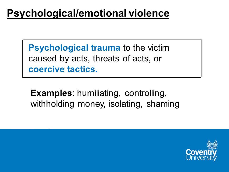 Using words, gestures, or weapons to communicate the intent to cause death, disability, injury, or physical harm.