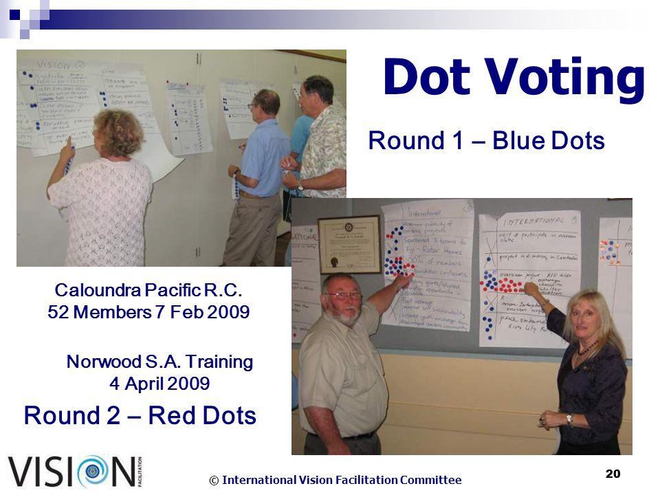 © International Vision Facilitation Committee 20 Dot Voting Caloundra Pacific R.C.