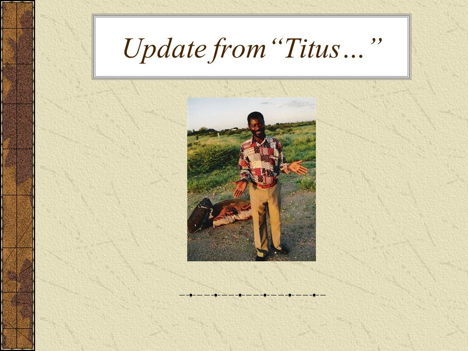 Update fromTitus…