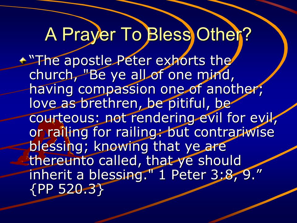 A Prayer To Bless Other.