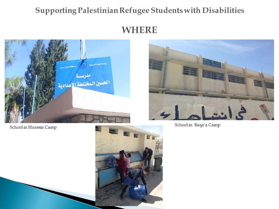 School in Hussein Camp School in Baqaa Camp