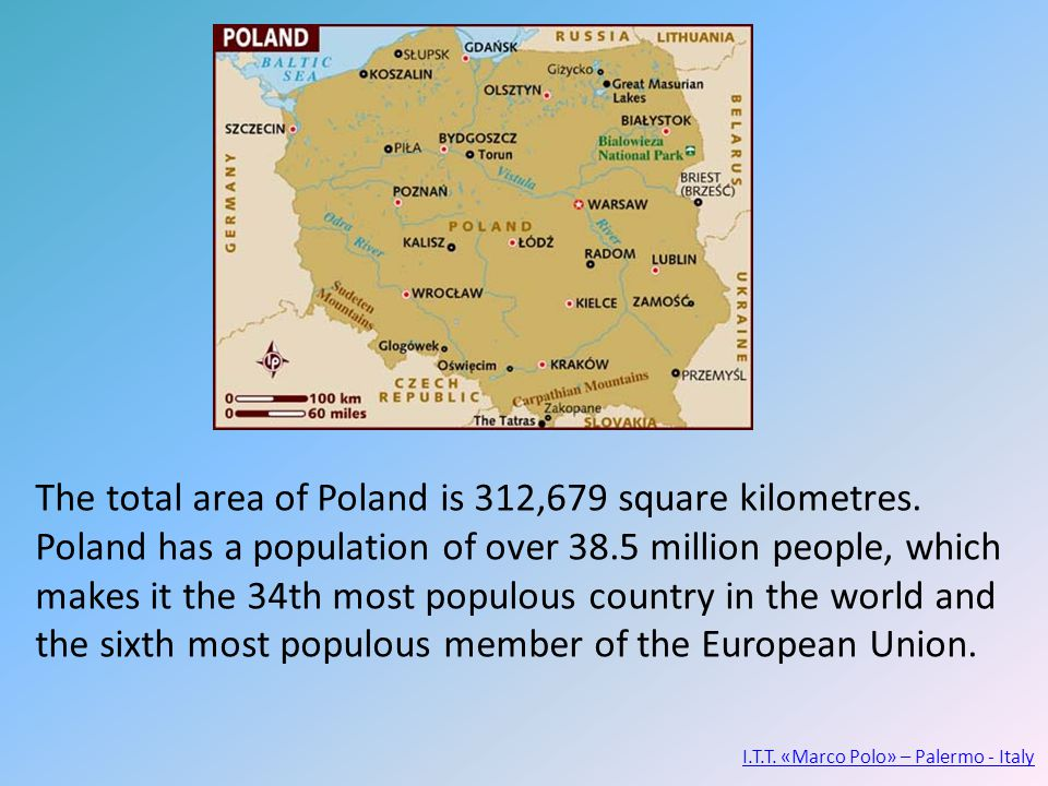 The total area of Poland is 312,679 square kilometres.