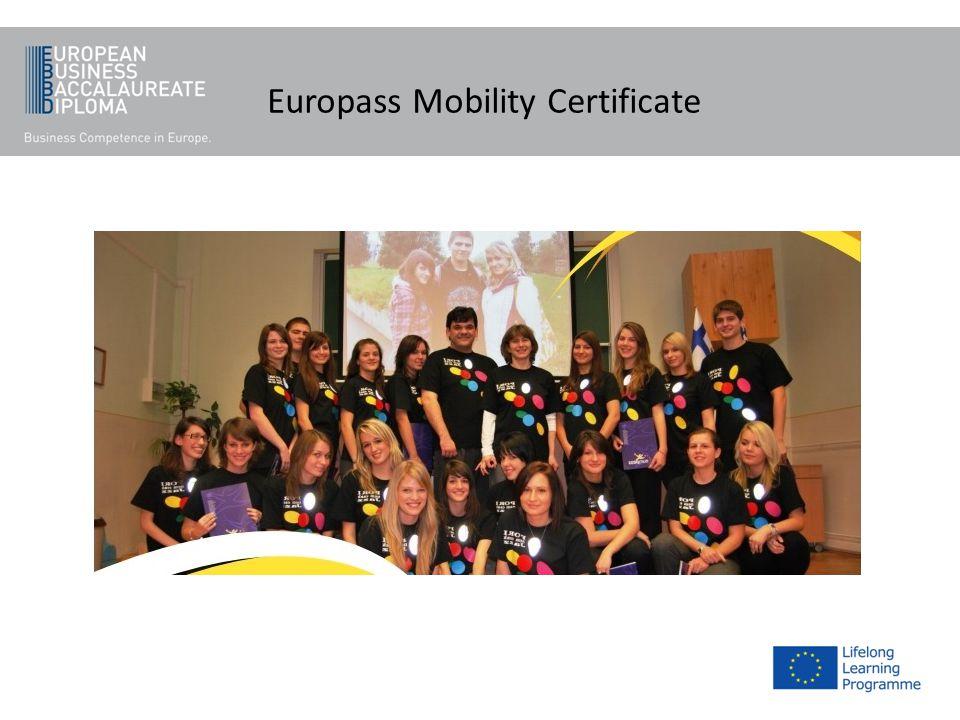 Europass Mobility Certificate