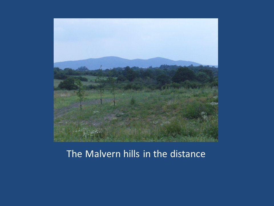 The Malvern hills in the distance